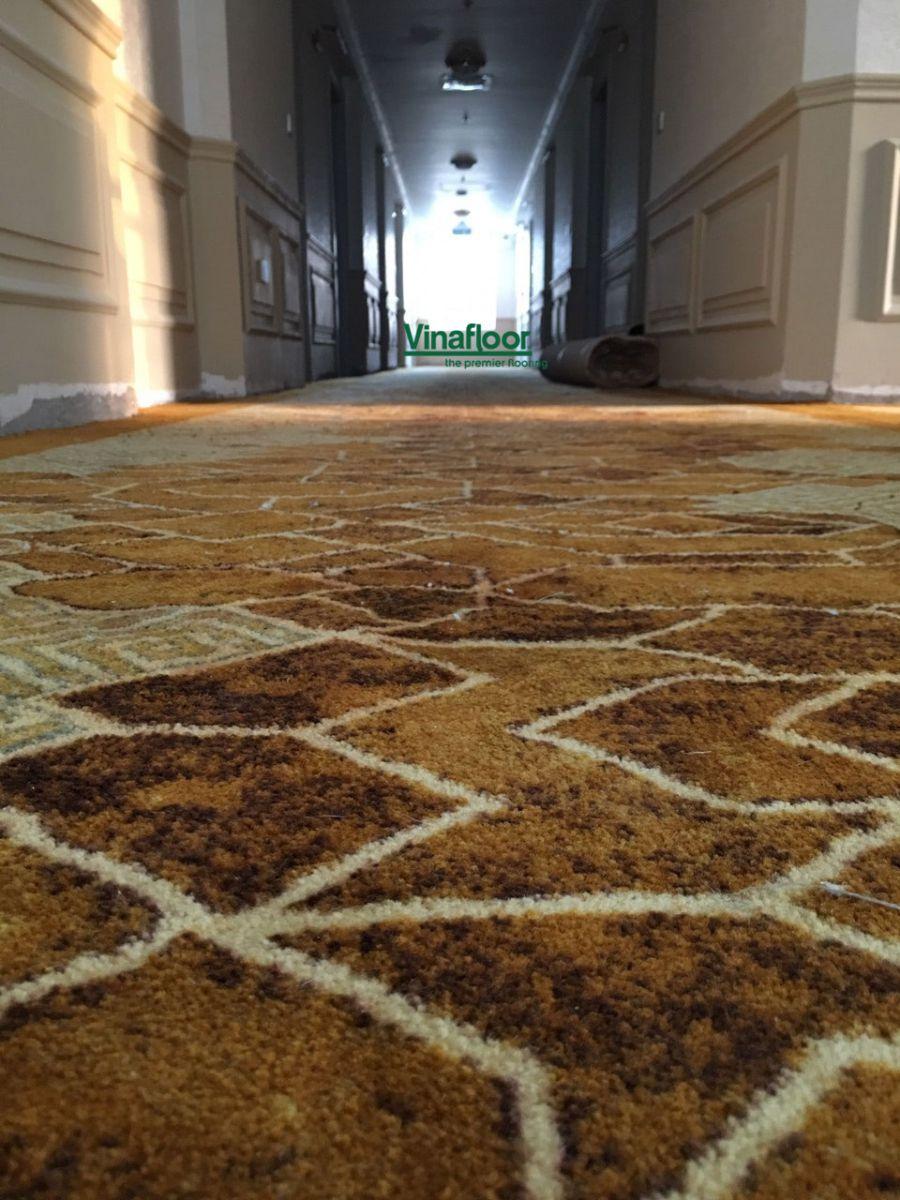 Công trình thảm trải sàn Printed dạng cuộn khách sạn MerPerle Beach Nha Trang
