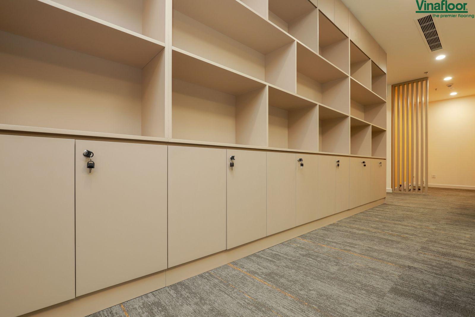 Công trình thảm trải sàn Skywalk tại văn phòng Masteri An Phú Quận 2
